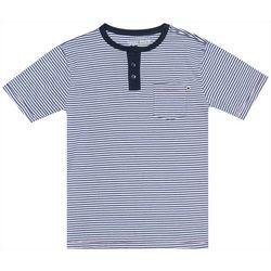 Lucky Brand Big Boys Short Sleeve Striped Button
