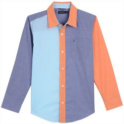Nautica Big Boys Makana Colorblock Woven Shirt