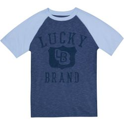 Lucky Brand Big Boys Raglan Sleeve Heathered T-Shirt