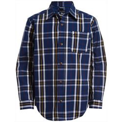 Nautica Big Boys Kennedy Plaid Button Down Long Sleeve Shirt