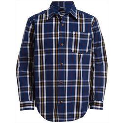 Nautica Big Boys Kennedy Plaid Button Down Long Sleeve Shirt