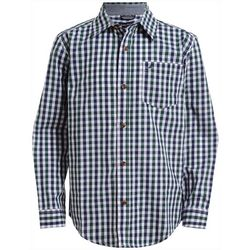 Nautica Big Boys Plaid Pocket Button Down Long Sleeve Shirt