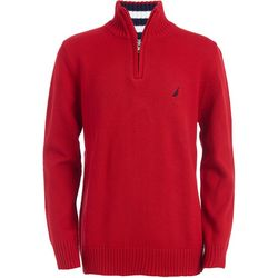Nautica Big Boys Larsson Long Sleeve Quarter Zip Sweater