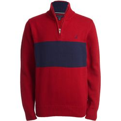Nautica Big Boys Colorblock Lyon Quarter Zip Sweater