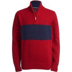Nautica Big Boys Colorblock Lyon Quarter Zip Sweater