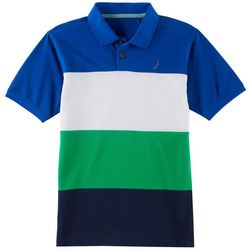 Nautica Big Boys Horizontal Striped Polo Shirt
