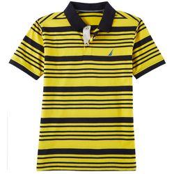Nautica Big Boys Horizontal Striped Print Polo Shirt