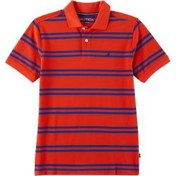 Nautica Big Boys Double Striped Print Polo Shirt