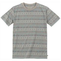 Lucky Brand Big Boys Striped Aztec Print T-Shirt
