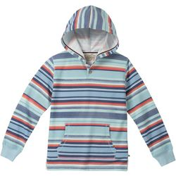 Lucky Brand Big Boys Striped Button Hoodie