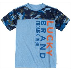 Lucky Brand Big Boys Camo Trademark T-Shirt