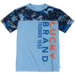 Lucky Brand Big Boys Camo Trademark T-Shirt