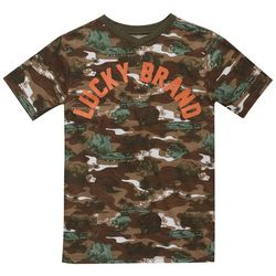 Lucky Brand Big Boys Camo Bear V-Neck T-Shirt