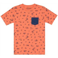 Lucky Brand Big Boys Summer Bear Pocket T-Shirt