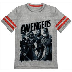 Marvel Avengers Little Boys Avengers Stripe Sleeve T-Shirt