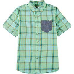 Lost Big Boys Button Down Clink Shirt