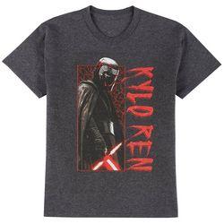Star Wars Big Boys Short Sleeve Heathered Kylo Ren T-Shirt