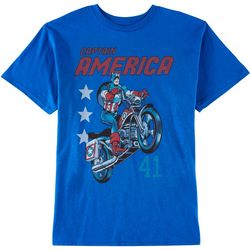 Marvel Big Boys Captain America Color Print T-Shirt