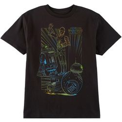 Star Wars Big Boys Glow In The Dark Droids T-Shirt