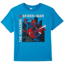 Marvel Spider-Man Big Boys Swing Into Action T-Shirt