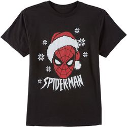 Marvel Spider-Man Big Boys Spidey Santa T-Shirt