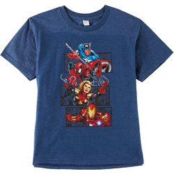 Marvel Avengers Big Boys Avengers Action Frame T-Shirt