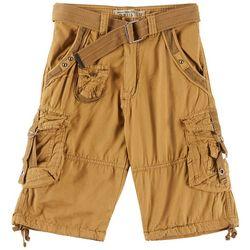 CDB Big Boys Belted Cargo Shorts