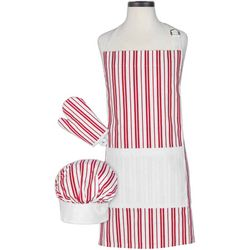 Handstand Kitchen Classic Striped Child Deluxe Apron Set