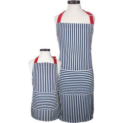 Handstand Kitchen Striped Parent & Child Apron Boxed Set