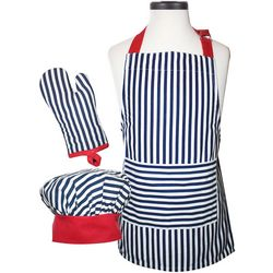 Handstand Kitchen Striped Child Deluxe Apron Set