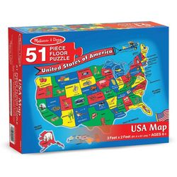 Melissa & Doug 51-pc. U.S.A. Map Floor Puzzle