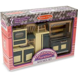 Melissa & Doug Dollhouse Kitchen Furniture Set