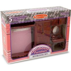 Melissa & Doug Dollhouse Bedroom Furniture Set