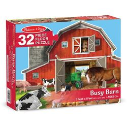 Melissa & Doug 32-pc. Busy Barn Floor Puzzle