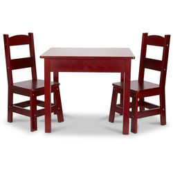 Melissa & Doug Kids Wooden Table & Chairs Set