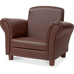 Kids Coffee Faux Leather Armchair