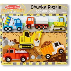 Melissa & Doug 6-pc. Construction Chunky Puzzle
