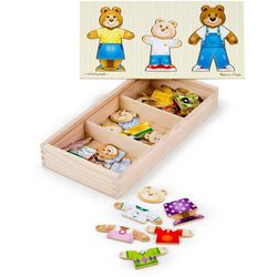 Melissa & Doug 45-pc. Bear Family Dress Up Puzzle
