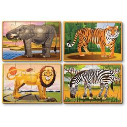 Melissa & Doug 48-pc. Wild Animals Puzzle Box