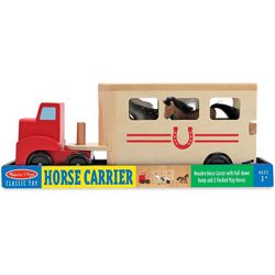 Melissa & Doug Horse Carrier Wooden Play Set