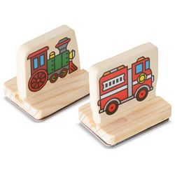 Melissa & Doug Vehicles My First Wooden Stamp Set