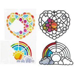 Melissa & Doug Rainbow & Hearts Stained Glass