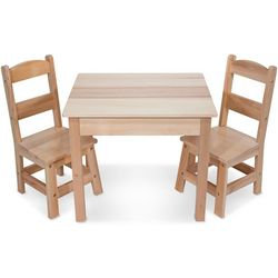 Melissa & Doug 3-pc. Wooden Table & Chairs Set