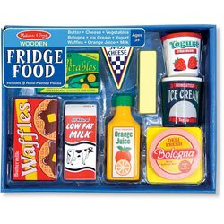 Melissa & Doug Wooden Fridge Food Play Set