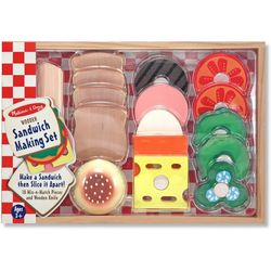 Melissa & Doug Wooden Sandwich Making Play Set