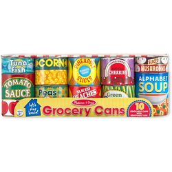 Let's Play House Grocery Cans Set