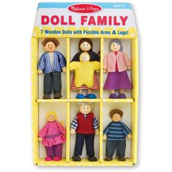 7-pc. Wooden Doll Family