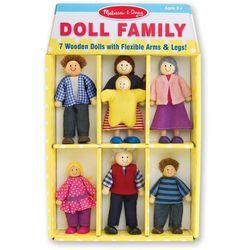 Melissa & Doug 7-pc. Wooden Doll Family