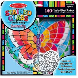 Stained Glass Butterfly Sticker Kit