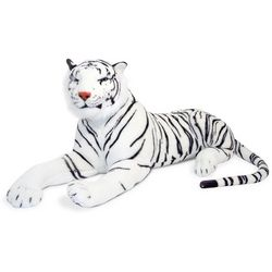 Giant Stuffed White Tiger